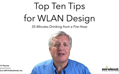 Top Ten Tips For Wireless LAN Design