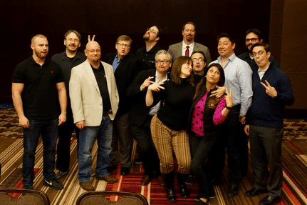 A group of wireless LAN professionals having fun