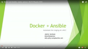 Docker and Ansible Jamie Jackson