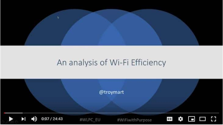 Efficiency – An analysis of Wi-Fi | Troy Martin | WLPC Prague 2018