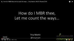 How do I MBR thee let me count the ways Troy Martin WLPC 2019
