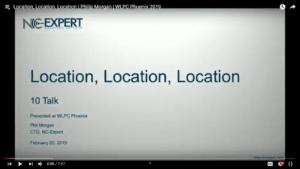 Location Location Location Philip Morgan WLPC 2019