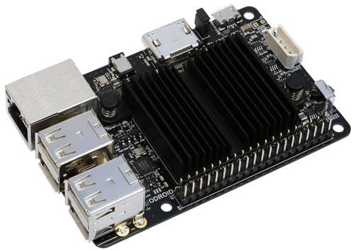 The ODROID C2 was a step closer to our final version of the NanoPi built testing tool