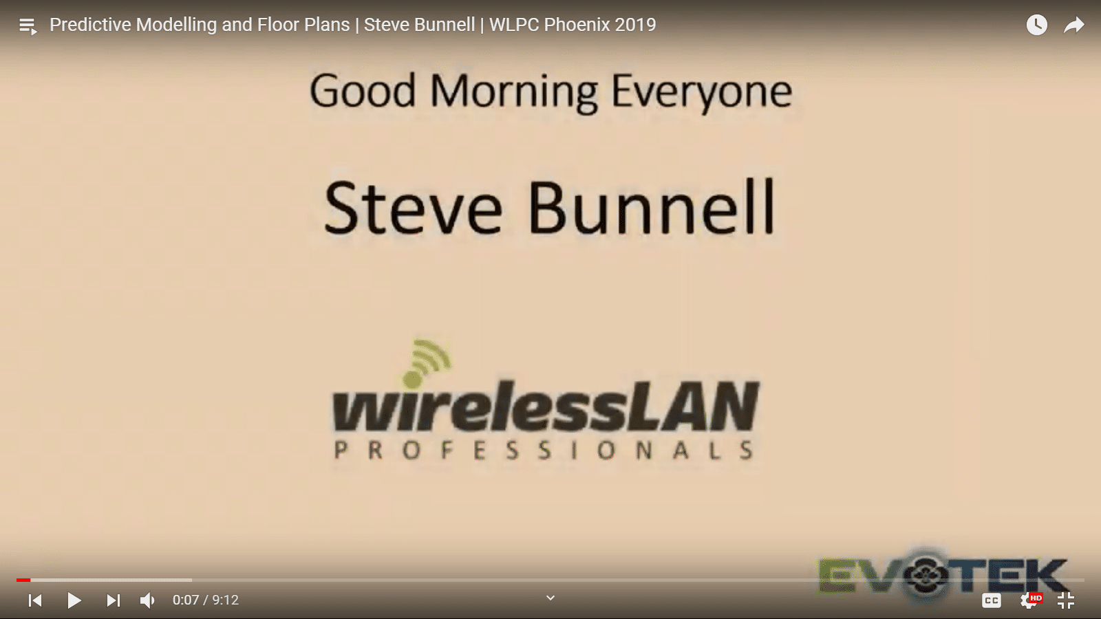 Predictive Modelling and Floor Plans | Steve Bunnell | WLPC Phoenix 2019