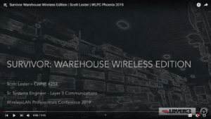 Survivor Warehouse Wireless Edition Scott Lester WLPC 2019