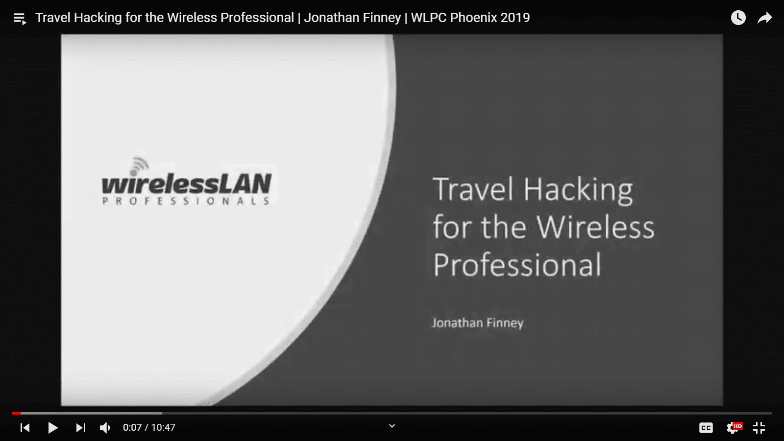 Travel Hacking for the Wireless Professional | Jonathan Finney | WLPC Phoenix 2019
