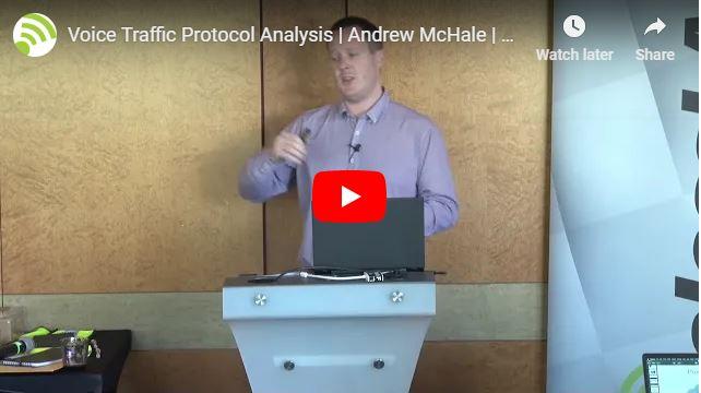 Voice Traffic Protocol Analysis | Andrew McHale | WLPC Prague 2018