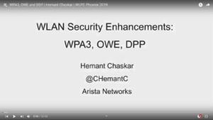 WPA3 OWE and DDP Hemant Chaskar