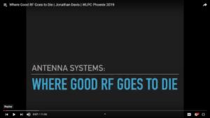 Where Good RF Goes to Die Jonathan Davis WLPC 2019