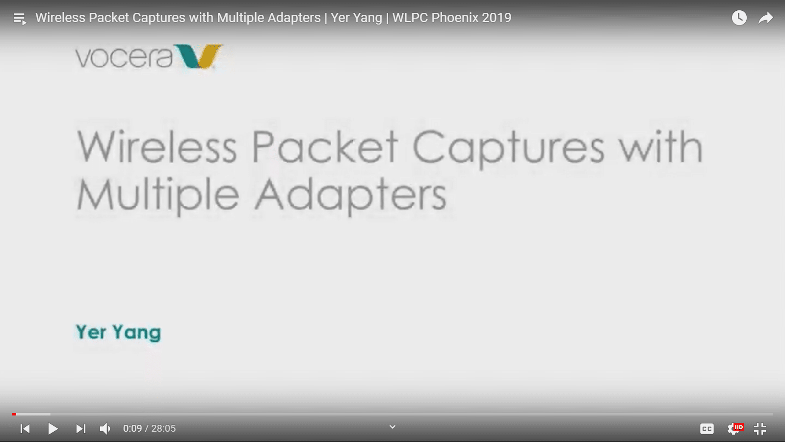 Wireless Packet Captures with Multiple Adapters | Yer Yang | WLPC Phoenix 2019